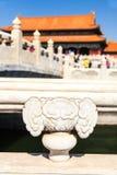 Ornament of bridge in forbidden city in Beijing Stock Images