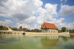 Ornament: buddhist shrine in Suphannahong ship. On the pond at wat Ban Na Muang, Ubon Ratchathani province, Thailand Stock Image