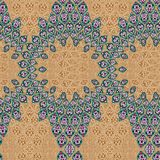 Seamless old ornament batik pattern in unique composition vector illustration