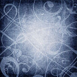 Ornament on canvas grunge background Royalty Free Stock Photography