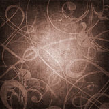 Ornament on canvas grunge background Stock Photography