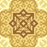 Ornament Cappuccino Coffee Brown Repetitive Seamless Pattern Tile Texture Vector Background. vector illustration