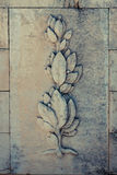 Ornament. Carved ornament in stone wall Royalty Free Stock Photo