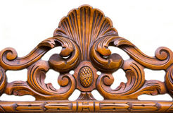 Ornament carved in wood Stock Photos