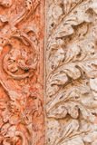 Ornament. Carving of the historic building made in two different colors as a decoration Royalty Free Stock Images