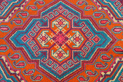 Ornament of Central Asian carpet Royalty Free Stock Image