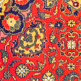 Ornament of Central Asian carpet Stock Images