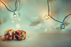 Ornament and Christmas item decorate in holy night. Ornament and Christmas items decorate for the holy night. Merry xmas and happy new year night light stock image