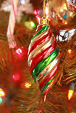 Ornament on Christmas tree Stock Image