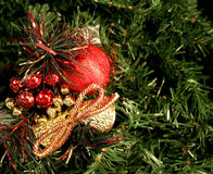 Ornament on Christmas tree Stock Photography