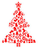 Ornament Christmas tree Stock Images