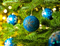 Ornament in a Christmas tree Stock Photos
