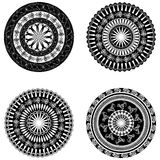 Ornament in a circle in black and white Royalty Free Stock Images