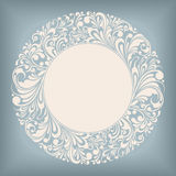Ornament Circle Label Stock Photo
