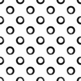 Ornament from circles painted with a rough brush. Seamless pattern with round shapes. Grunge, sketch. Vector illustration. Black, white Stock Photo