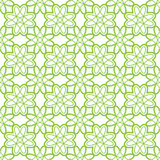 Ornament clovers seamless pattern for St. Patrick`s Day Stock Photo