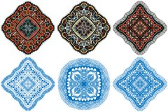 Ornament color card with mandala. Royalty Free Stock Photo