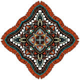 Ornament color card with mandala. Stock Image