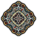 Ornament color card with mandala. Stock Photo