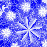 Ornament color card with mandala. Royalty Free Stock Image