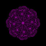 Ornament color card with mandala. Royalty Free Stock Photography