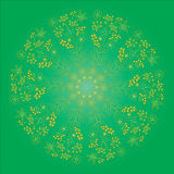 Ornament color card with mandala. Stock Images