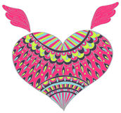Ornament color heart shape for your design Royalty Free Stock Image