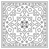 Ornament. Coloring page. Vector illustration. Ornament. Coloring page. Black and white vector illustration Stock Photo