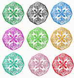 Ornament colors Royalty Free Stock Photos