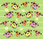 Ornament with cows. Vector illustration Stock Images