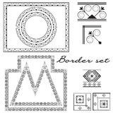 Ornament for creating borders and frames Stock Image