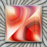 Ornament 3D plastic die tegel op textuur met glanzend ornament wordt opgesmukt vector illustratie