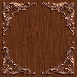 Ornament021111. 3d swirl floral luxury background decorative ornament frame Stock Image