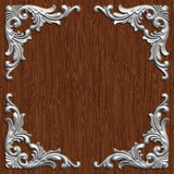 Ornament021117. 3d swirl floral luxury background decorative ornament frame Stock Image