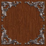 Ornament021112. 3d swirl floral luxury background decorative ornament metal frame Stock Image