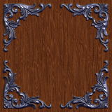 Ornament021113. 3d swirl floral luxury background decorative ornament metal frame Stock Photo