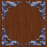 Ornament021110. 3d swirl floral luxury background decorative ornament metal frame Stock Photo