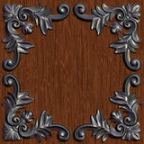 Ornament02115. 3d swirl floral luxury background decorative ornament metal frame Stock Photos