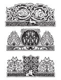 Ornament in de Gotische stijl Stock Foto's