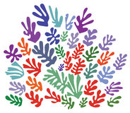 Ornament in de stijl van Henri Matisse (vector) vector illustratie