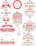 Ornament decoration background for holiday stock illustration