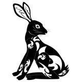 Ornament decoration tribal rabbit tattoo Royalty Free Stock Photo