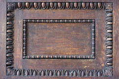 Ornament decoration on wood Royalty Free Stock Photo