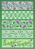Ornament decorative elements in Celtic style Stock Photography