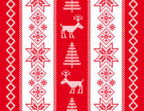 Ornament with deers. Christmas background. Stock Photo
