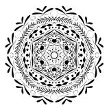 Ornament design element, mandala. Ornament design element, mandala on white and transparent background stock illustration