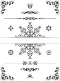 Ornament design elements dividers Stock Images