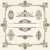 Ornament design elements frame vorder. Ornament design elements with a collection of elegant intricate filigree frames, borders, corners and cartouches in Royalty Free Stock Photos
