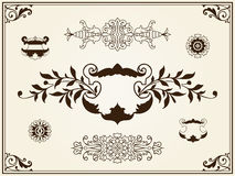 Ornament design elements on parchment Royalty Free Stock Image