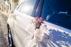 Ornament detail. Wedding car. Stock Photography